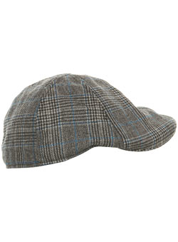 Black Prince of Wales Check Flat Cap