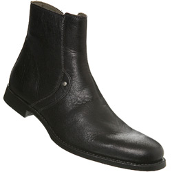Black Round Toe Boot