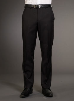 Black Selfstripe Trousers