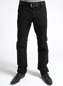 Black Tapered Slim Jeans