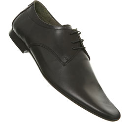 Black Tie Point Leather Shoes