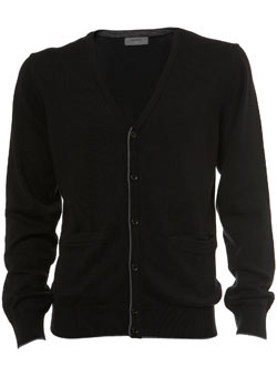 Black Tipped Cardigan