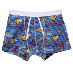 Blue Cool Dad Print Trunk Underwear