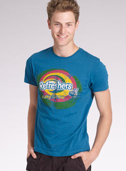 Blue `efreshers`Printed T-Shirt