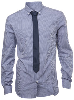 Blue Gingham Shirt and Tie Set