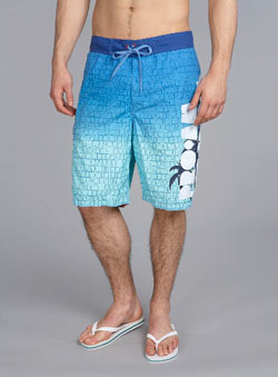 Blue/Green Printed Swim Shorts