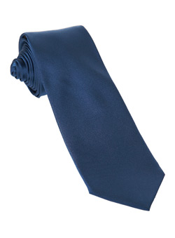 Burton Blue Plain Slim Silk Tie