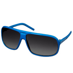 Blue Plastic Frame Sunglasses