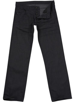 Blue Premium Coated Straight Denim Jeans