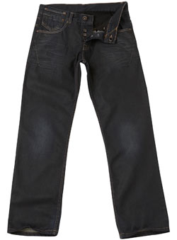 Blue Premium Coated Straight Jeans