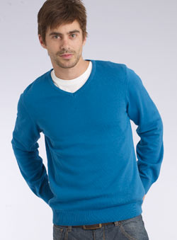 Bright Blue V-Neck Jumper