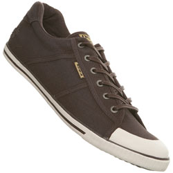 Brown Acid Wash Lace Up Sports Shoe