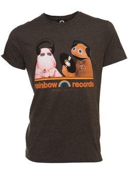 Brown `ainbow Record`Printed T-Shirt