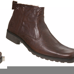 Brown Casual Creased Ankle Boot