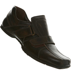 Brown Casual Square Toe Velcro