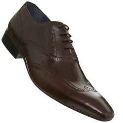 Brown Chisel Point Brogue