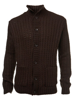 Brown Chunky Cardigan