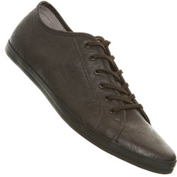 Brown Crinkle Lace Up Plimsolls