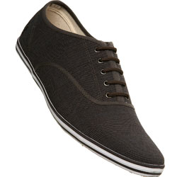 Brown Lace Up Check Sports Shoe