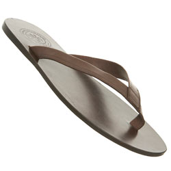 Brown Leather Toe Post Sandal