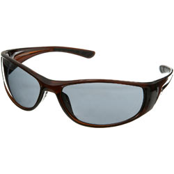 Brown Plastic Wrap Sunglasses