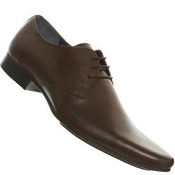 Brown Point Lace Up Shoes