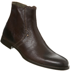 Brown Round Toe Boot