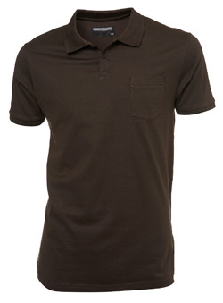 Brown Slim Fit Pocket Polo