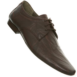 Brown Tie Point Leather Shoes