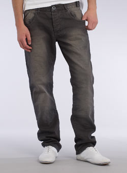Brown Vintage Tapered Jeans