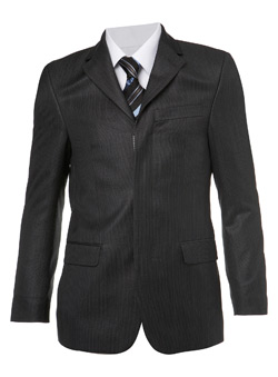 Charcoal Ben Sherman Pindot Suit Jacket