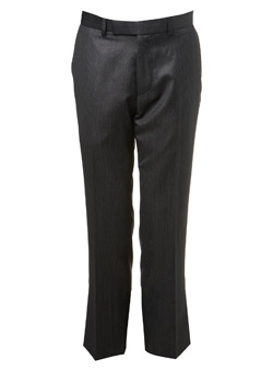 Charcoal Ben Sherman Pindot Suit Trousers