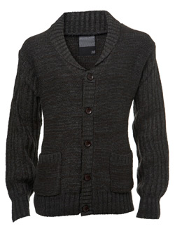Charcoal Chunky Knit Cardigan