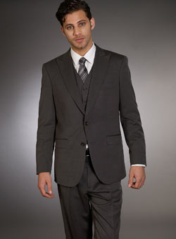 Charcoal Grey Peak Lapel Jacket