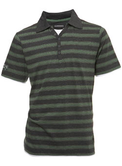 Charcoal Grey Polo Shirt with Insert
