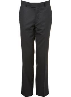 Charcoal Regualr Fit Essential Suit Trousers