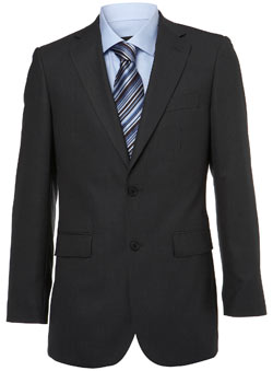 Charcoal Regular Fit Essential Suit Jacket