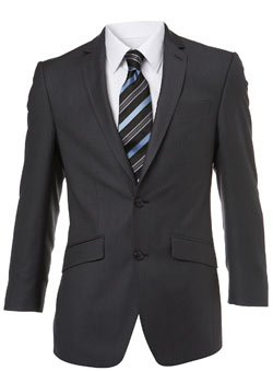 Charcoal Stripe Essential Suit Jacket