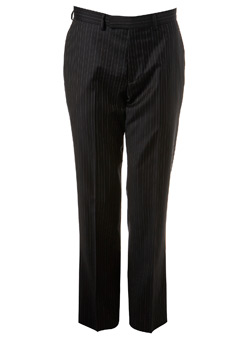 Chocolate Brown Ben Sherman Stripe Suit Trousers