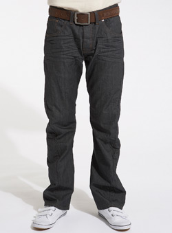 Coated Indigo Twist Jeans