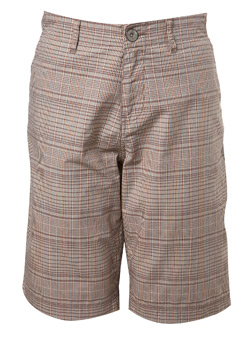 Cream Semi Formal Check Short