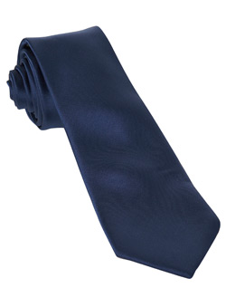 Dark Blue Slim Plain Tie