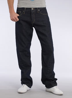 Dark Blue Twisted Fit Jeans