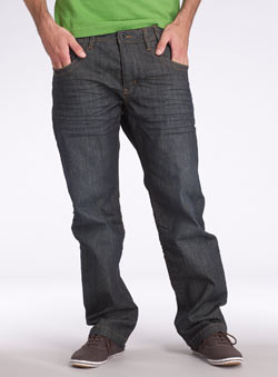 Dark Coated Straight Jean
