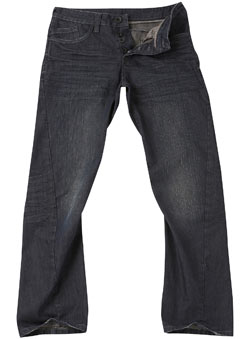 Dark Coated Twisted Jeans