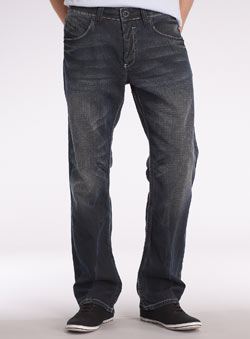 Dark Vintage Wash Straight Jeans