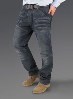 Dark Wash Worker Straight Denim Jeans