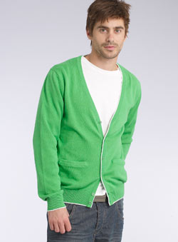Green Tipped Cardigan