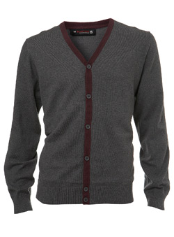 Grey And Plum Cardigan