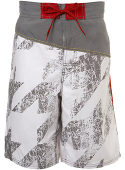 Grey Bright Cut And Sew Swim Shorts